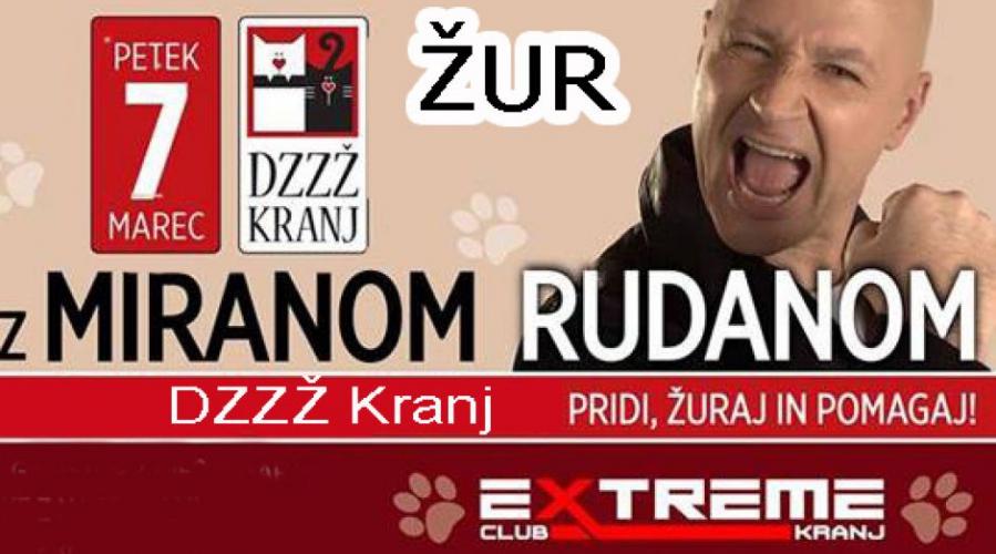 Živalsko dober žur z Miranom Rudanom za pomoč gorenjskim brezdomnim živalim