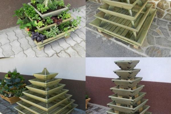 Piramidni vrt za pridelavo lastnih eko pridelkov