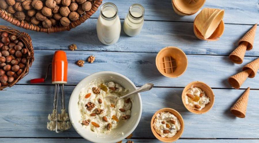 Recept: medeni sladoled z orehi