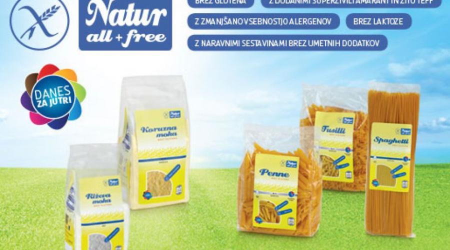 Varno, naravno in brez glutena - Naturall + free