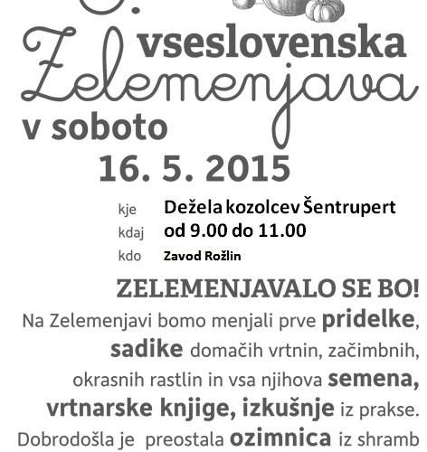 3. vseslovenska Zelemenjava v Deželi kozolcev