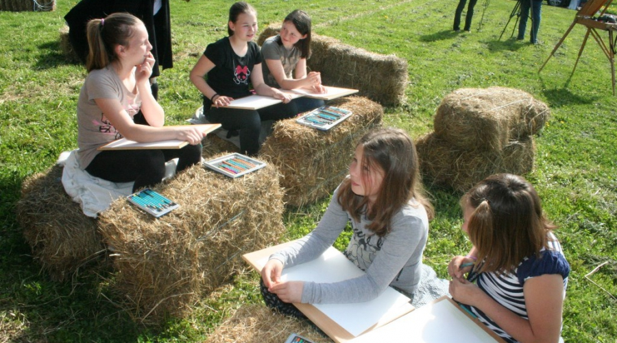 V Deželi kozolcev ustvarjali tudi osnovnošolci
