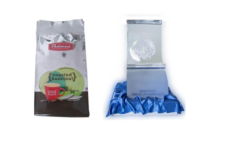 Podeljen slovenski oskar za embalažo 2016: vrečka za kavo, primerna za kompostiranje