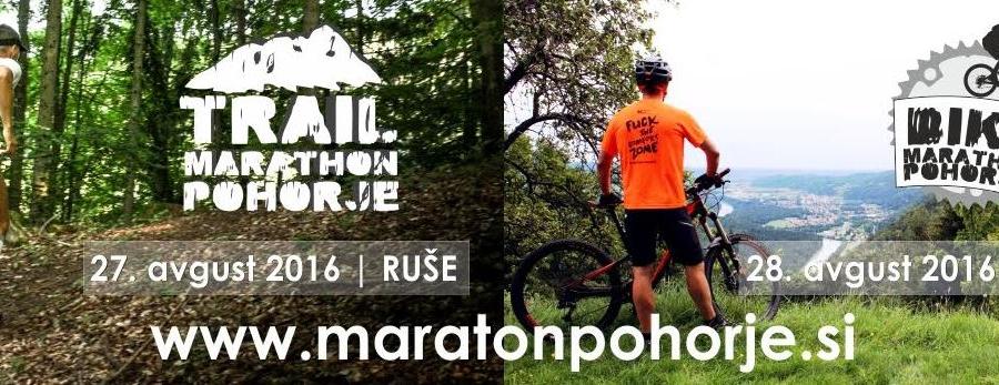 Trail maraton Pohorje - mednarodna športno humanitarna prireditev konec meseca