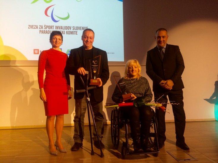 Invalida športnika leta 2016: Veselka Pevec in Franček Gorazd Tiršek