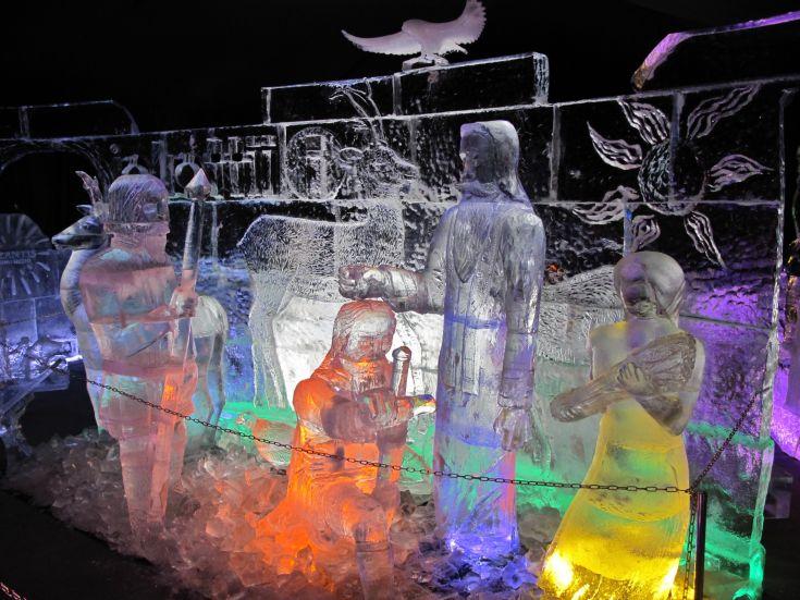 Slovenca na prvem SP v ustvarjanju ledenih skulptur na Finskem osvojila tretje mesto