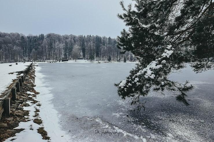 Blaguško jezero v bližini reke Ščavnice