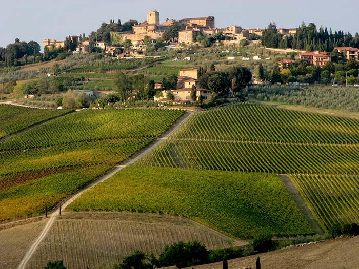 Značilna podoba toskanskega podeželja