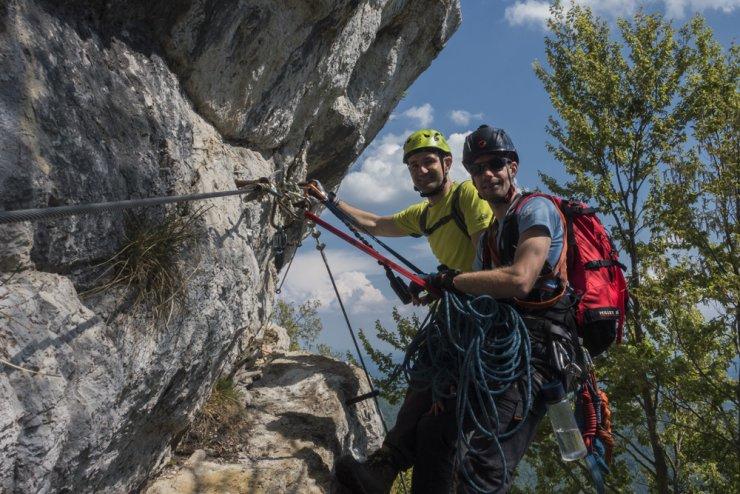 Ferate, zavarovane plezalne poti, vse bolj popularne tudi pri nas