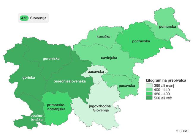 odpadki zemljevid