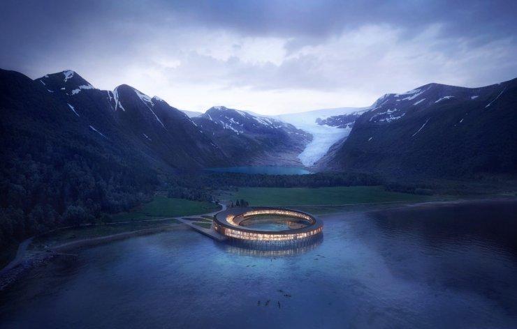 To je hotel na Arktiki, ki bo proizvedel več elektrike, kot jo potrebuje