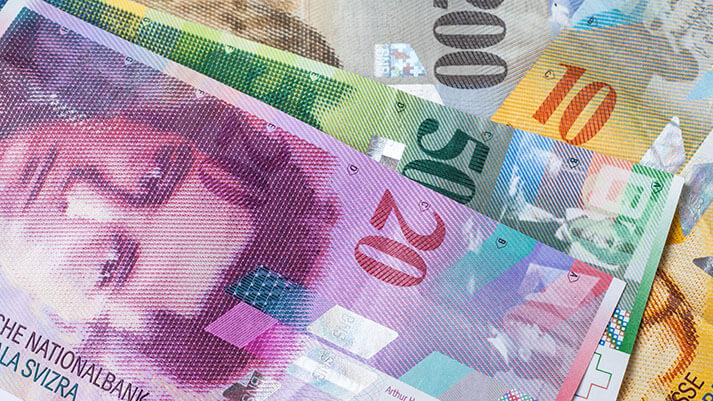 Švicarski bankovec za 10 frankov je postal bankovec leta 2017