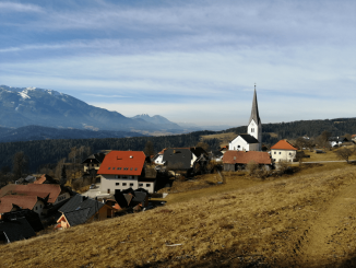 Šentanel - koroška vasica na 700 metrih
