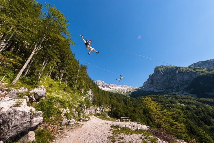 Za adrenalinske navdušence: Zipline Slovenia v Bovcu