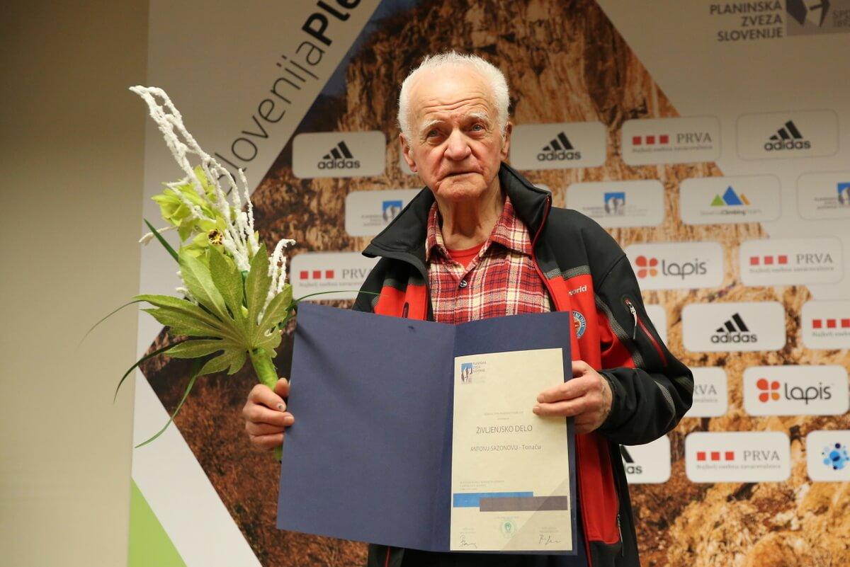 PZS priznanja: nagrada za življenjsko delo Antonu Sezonovemu - Tonaču
